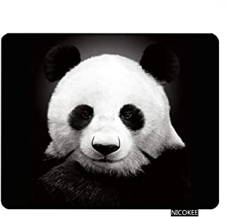 Nicokee Panda Gaming Mousepad Cute Black and White Panda Mouse Pad Rectangle Mouse Mat for Computer Desk Laptop Office 9.5 X 7.9 Inch Non-Slip Rubber