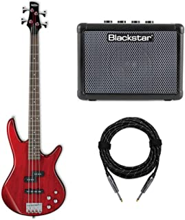 $269 Get Ibanez GIO Electric Bass Guitar (GSR200) with FLY3 Bass Amp and Knox Guitar Cable (3 Items)