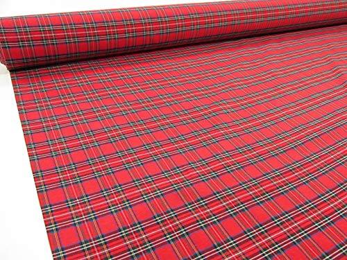 Confección Saymi Metraje 2,45 MTS Tejido Cuadros Ref. Irlanda Color Rojo, con Ancho 2,80 MTS.