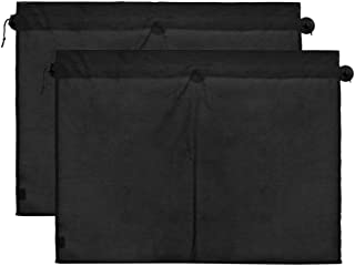 uxcell a17050200ux0608 2 Pcs 70 x 53cm Car Side Window Sunshade Polyester Cloth Curtain UV Protection, 2 Pack