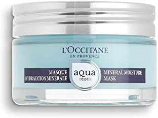 L'Occitane Hydrating Aqua Reotier Mineral Moisture Face Mask for All Skin Types, Net Wt. 2.7 oz.