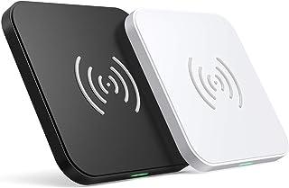 2台セットワイヤレス充電器 「2020最新版・Qi認証済み」 10/7.5W充電AirPods 2 iPhoneSEGalaxy シリーズ等対応