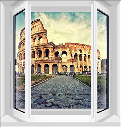 GAOJIAN Neubau Fake Fenster Dekoration Paste Simulation Fenster Wand Aufkleber 3D Stereo Home View PVC 95cm * 100cm