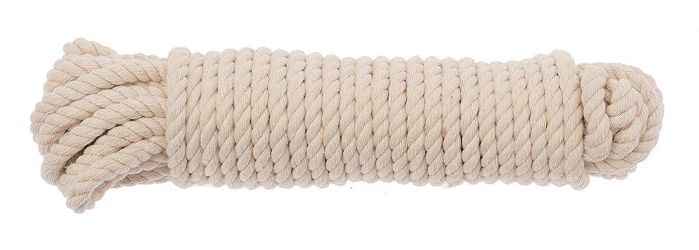 Glorex 6?1860?223?Cotton Rope?–?Natural Cotton Plastic Bag Storage, 21?x 6.5?x 5?cm