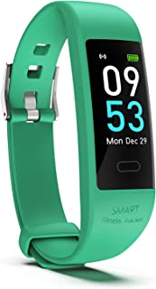 Snoky Fitness Tracker, Heart Rate Monitor Pedometer for Walking Step Activity Sleep Tracker Calorie Counter Smart Bracelet Fitness Band Watch for Women and Men Running Workout Exercise Sports
