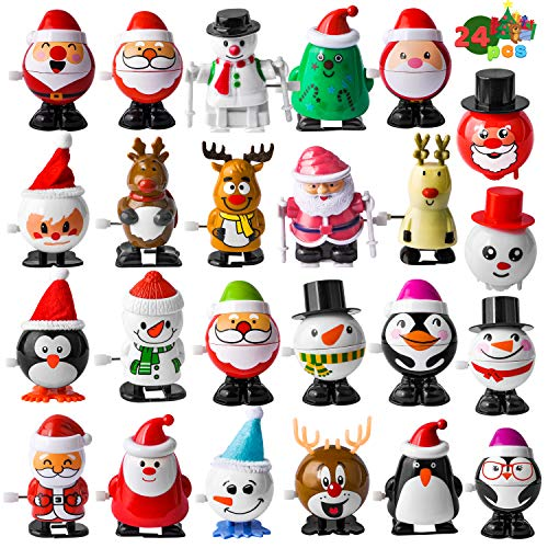 JOYIN 24 Pack Christmas Wind Up Toy Assortments Stocking Stuffers for Christmas Party Favor Supply Accessories (24 Pieces Pack)