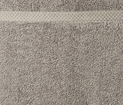 AmazonBasics Quick-Dry Bath Towels, 100% Cotton, Set of 2, Platinum