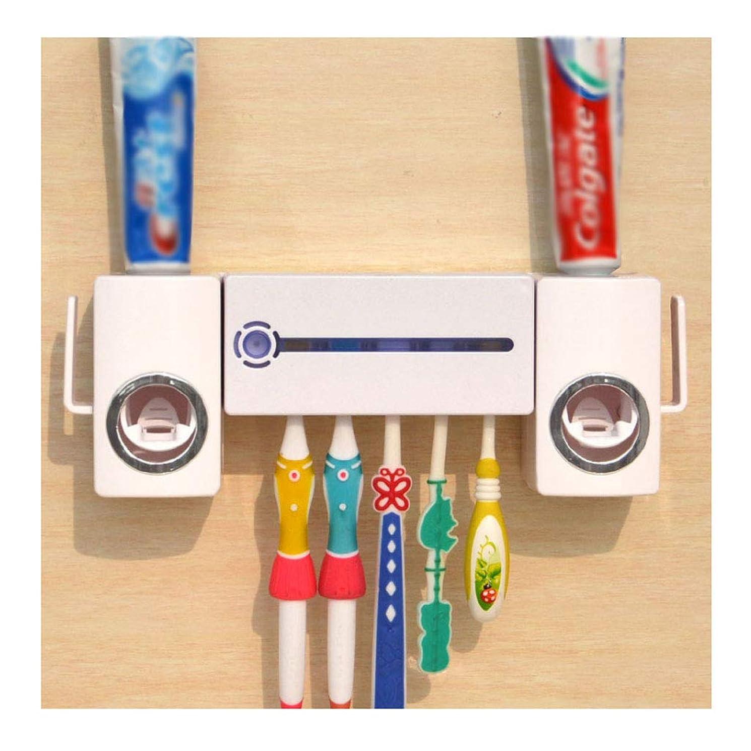 敬意ピース物理滅菌器, 歯ブラシホルダーウォールマウントされた歯磨き粉ディスペンサーテープを持つ電子UV歯ブラシ滅菌器殺す細菌女性のための細菌