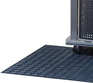 Originale Grillunterlage in Premium Qualität mit Riffeloptik 120 x 90 cm - Grillmatte für Gas-, Kohle- und Elektrogrill - feuerfest & abwaschbar - Made in Germany
