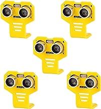MakerHawk 5pcs HC-SR04 Ultrasonic Module Distance Sensor Kits with 5pcs Yellow Cartoon Mounting Bracket for Servo Arduino UNO MEGA R3 Smart Car Robotics Projects