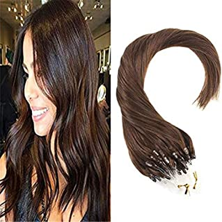 RemeeHi Micro Ring Hair Extensions Straight Human Hair Real Human Hair Micro Ring Loop Hair Extensions 70g 26 Inch Per Pack 1# Jet Black