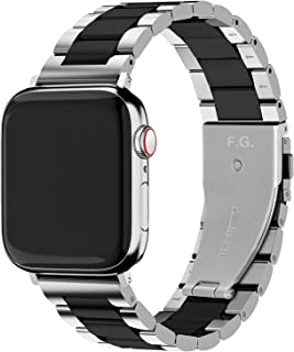 Fullmosa Apple Watch Strap Compatible for iWatch Series SE/6/5/4/3/2/1, Stainless Steel Apple Watch Band Replacement for i...