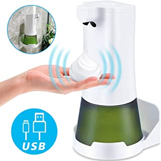 CAVN Automatic Soap Dispenser, Touch-Free Infrared Motion Sensor Foam Hand Dish Soap Dispenser, Electric Touchless Foaming Detergent Dispenser Wall Mount for Kitchen Sink Bathroom Toilet Office Hotel