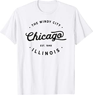 Classic Vintage Retro Chicago Illinois Windy City T-Shirt