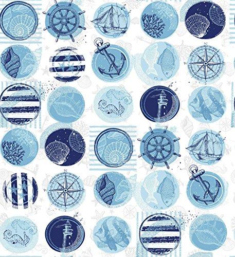 SABANALIA - Bedruckte Tagesdecke in Marineblau (erhältlich in...