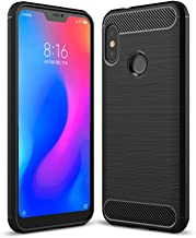 RKINC Case for Xiaomi Mi A2 Lite/Redmi 6 Pro,TPU Cover Ultra Thin, Lightweight Carbon Fiber design Flexible Bumper Rubber Protective Case forXiaomi Mi A2 Lite/Redmi 6 Pro, Black