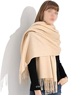 YANGBM Scarf Cashmere Scarf Super Soft Warm Long Lengthen Thickening Solid Color Cashmere Scarf Shawl Wrapped Body (Color : E)