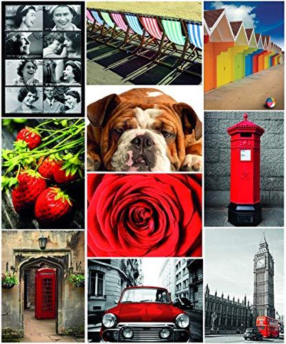 Die Besten Britischen Postkarten Großer Nutzen Multipack von Ikonischen Bildern aus London und dem UK Lebensstil