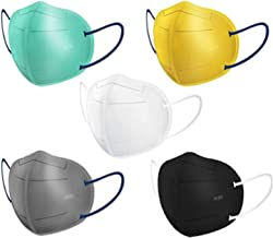 SHOPERIYA KN95 Multi color Reusable, washable & CE certified to protect Mouth droplets, Dust and pollution,Filter Face Mask for Kids,Adults,Men & Women Pack of 5 mask (MULTICOLOUR)
