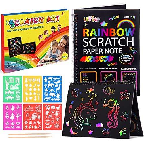 Juguetes Niña 2 3 4 5 6 7 8 9 10 Años,Regalo Niña 2-10 Años Magic Scratch Book Kit Manualidades Niños Juguetes Niños 2-10 Años Regalo Niño 2-10 Años Regalos Niña 3-9 Años Regalos para Niños