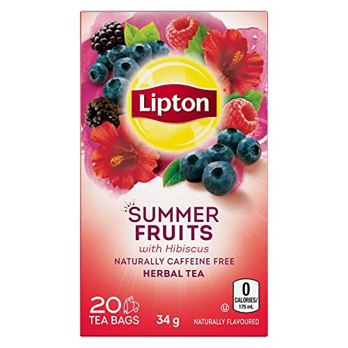 Lipton Herbal Tea Summer Fruits Pyramid Tea Bags 20 Count