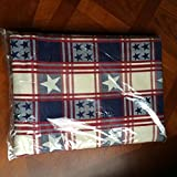 The Pampered Chef Patriotic Tablecloth & Set of Two Matching Kitchen Towels