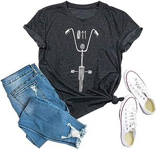 YXL Stranger Things Upside Down Shirt Womens Funny Graphic Tees Casual Summer Tops