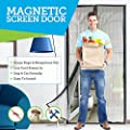 Ultimate MAGNETIC SCREEN DOOR - Full Frame Velcro to Ensure All Bugs Are Kept Out - 60g Screen Guaranteeing Durability