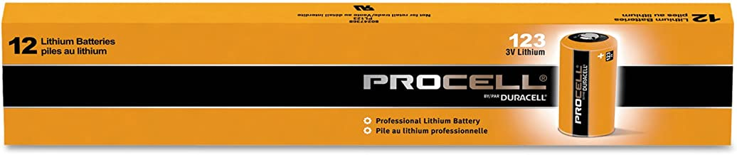 Duracell PL123BDK 3V Non-Rechargeable CR123 Procell Lithium Batteries (12 Pack)