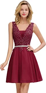 Junior's Homecoming Dresses Lace Applique Sequins Cocktail Party Dress