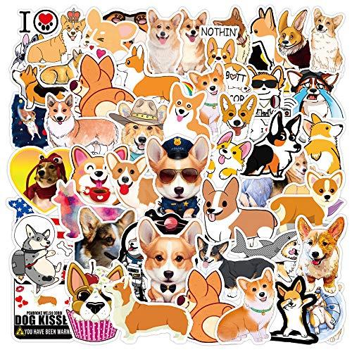 DSSJ 50 Pegatinas Bonitas de Dibujos Animados para Cachorros, Maleta Impermeable, portátil, Scooter, Motocicleta, Taza de Agua, Pegatina para Nevera