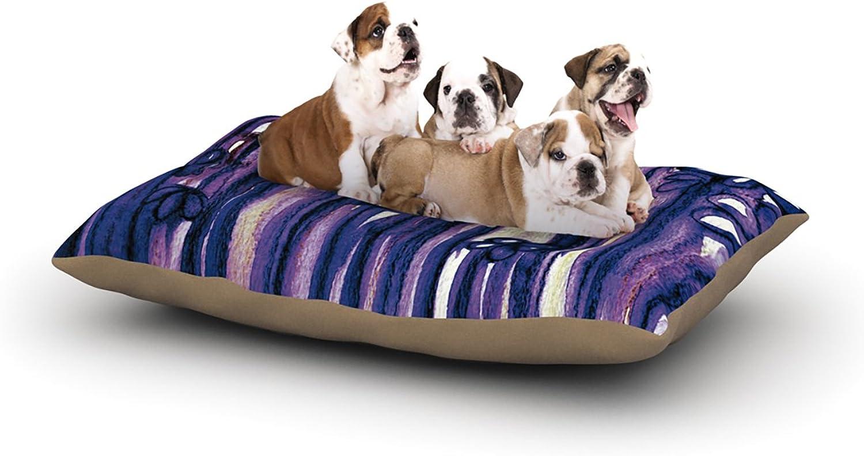 Kess InHouse Ebi Emporium Winter Garden in purple  Fleece Dog Bed, 50 by 60 , Purple