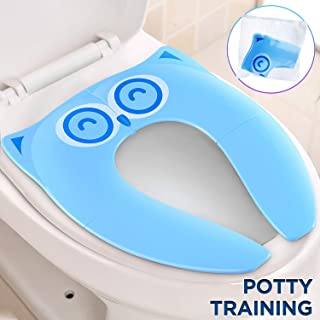 Gimars Upgrade Stable Folding Travel Portable Potty Training Seat Fits Most Toilets, No..