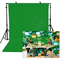 Deals on TOAOFY Green Backdrop 5x7ft Pure Muslin Collapsible Backdrops
