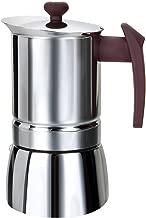 Moka Pot Coffee Percolator Espresso Maker Stainless Steel (6 Cups, Brown)