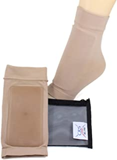 CRS Cross Lace Bite Pads - Elastic Gel Sleeve/ice Skating Socks Padded for Protection for Skate bite for Figure Skating, ice Hockey, Inline, Roller, ski, Riding Equestrian Boots