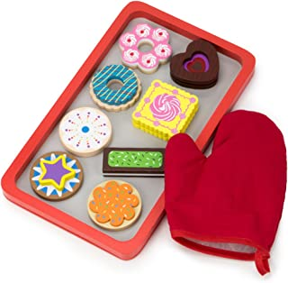 Imagination Generation Wood Eats! Warm Delights Cookie Tray - 8 Whimsical, Colorful Cookies with Oven Mitt
