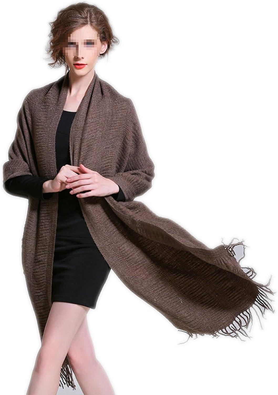 Woman 2017 Autumn And Winter Elegant Soft Luxurious Pashmina Wrap Shawl Stole From Peach Couture,KhakiOneSize