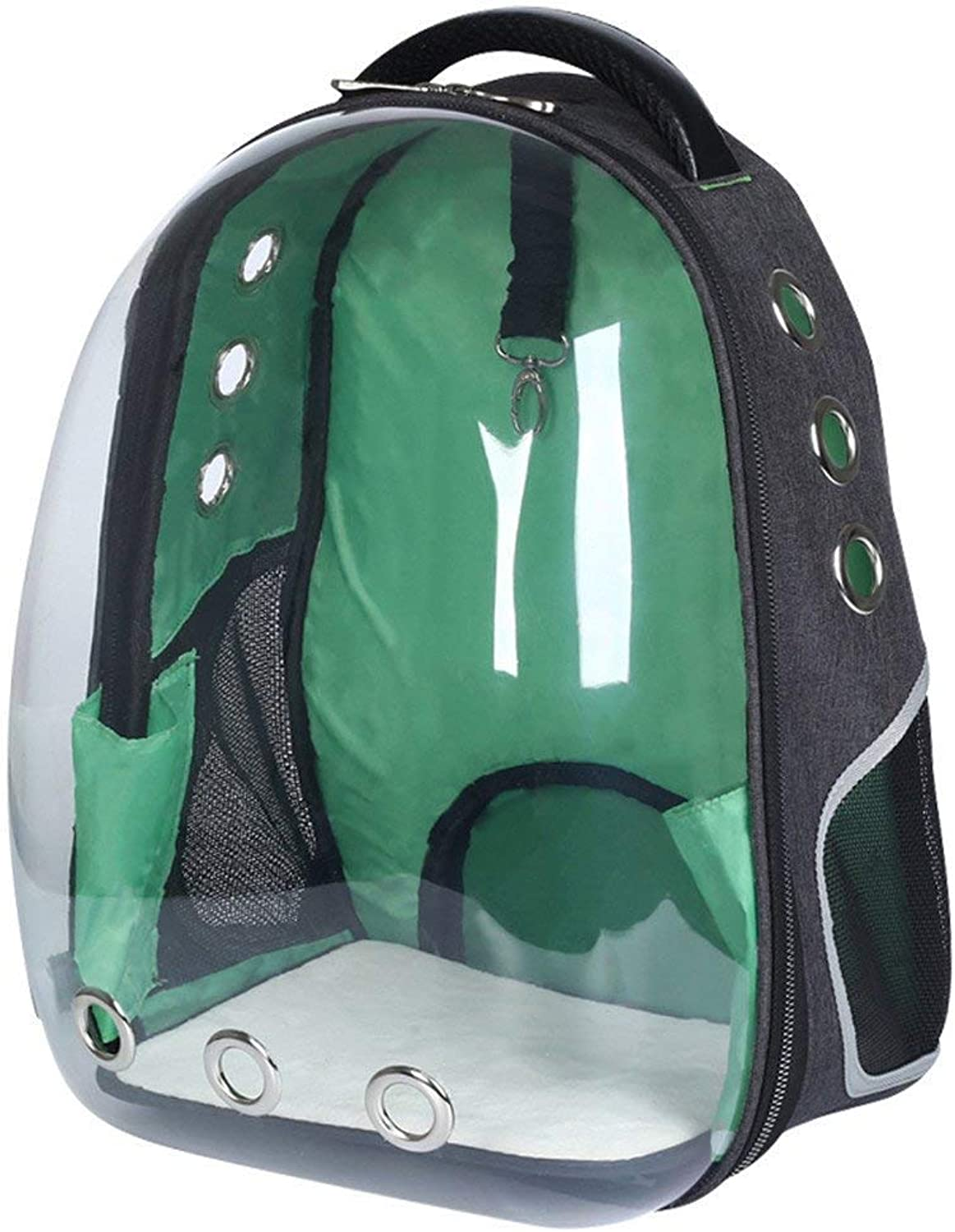 Dreamsoule Transparent Breathable Pet Carrier Travel Bag,Portable Space Capsule Pet Carry Backpack,Outdoor Cat Dog Carrier Backpack for Cats Puppy Small Dogs Green