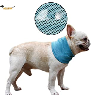 Delifur Dog Instant Cooling Bandana Pet Breathable Scarf Cats Ice Collar for Summer