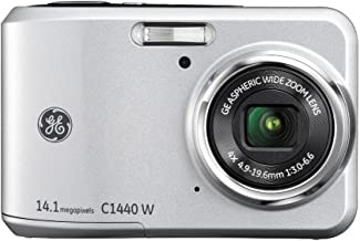 General Imaging Digital Camera with 14MP, 4X Optical Zoom, 2.7-Inch LCD with Auto Brightness and 27mm Wide Angle Lens (Silver) C1440W-SL