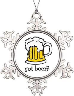 Yilooom Personalized Family Christmas Snowflake Ornaments Beer! Frothy Bubbly of Brew Brewmaster Tree Decoration Ideas