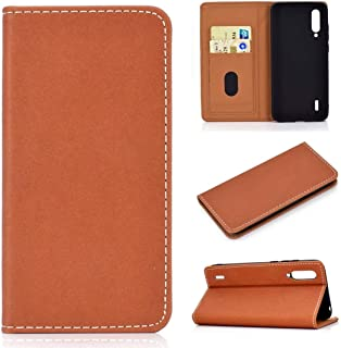 For Xiaomi Mi CC9 Solid Color Magnetic Horizontal Flip Leather Case with Card Slot & Holder New (Black) Lipangp (Color : Brown)