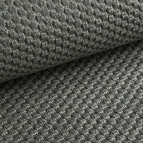 NOVELY® MAKAO moderner und kuscheliger Möbelstoff mit 3D-Wabenmuster ULTRAWEICH (13   Beton Grau)