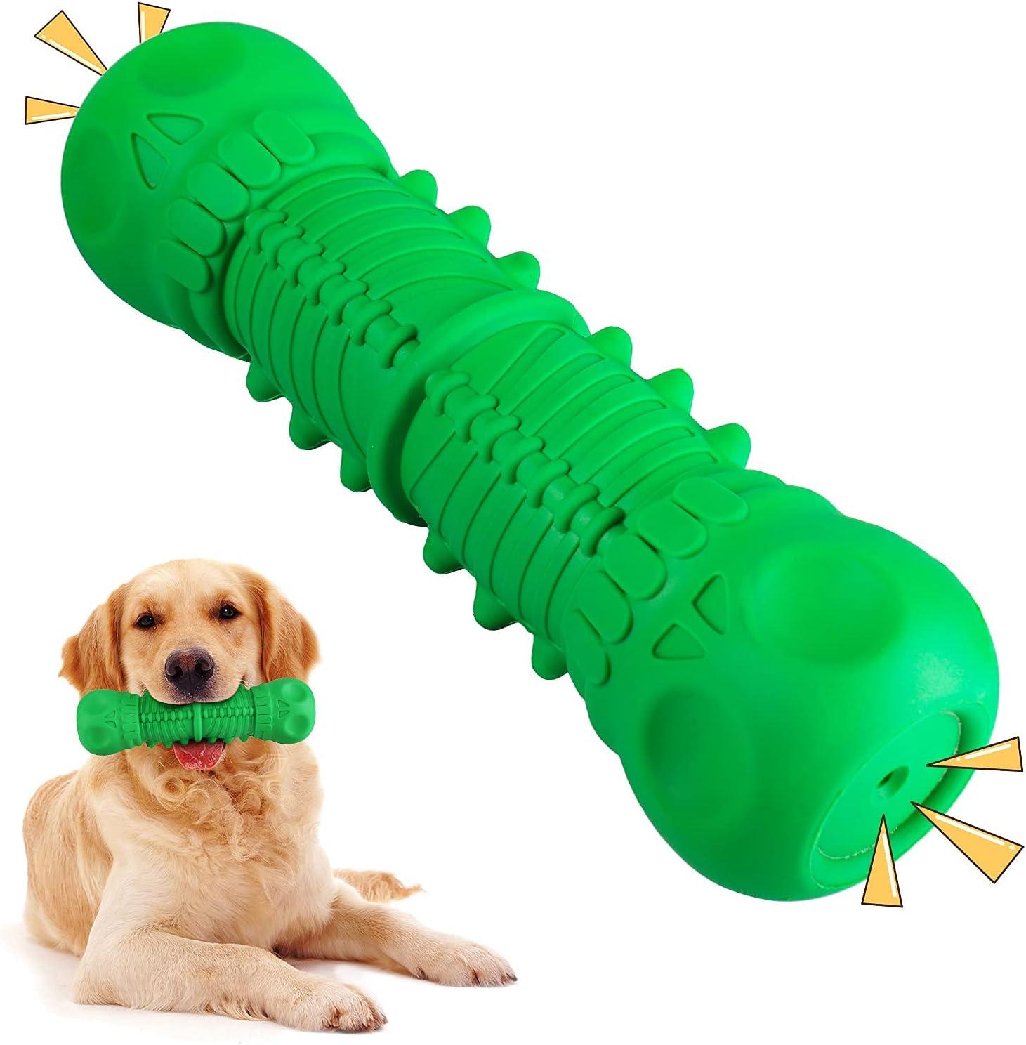 HALOVIE Juguete Molar Multifuncional para Mascotas Juguete Molar para Perros con Ventosas Dobles Limpieza de Dientes con Función de Cuidado Dental Juguete para Perros Pequeños y Grandes