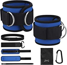 Ankle Straps for Cable Machine and Resistance Band, Adjustable Padded Ankle Cuffs, Gym Exercise Bands Attachment for Weightlifting, Fitness Ankle Strap for Legs, Glute Exercises, Abs etc