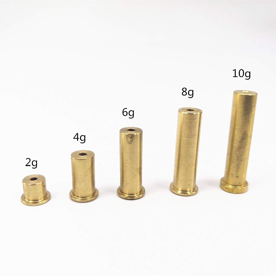 同じスピーチ悲鳴RoyMade 10個セット 銅 釘 真鍮 プラグ ゴルフ ウェイト .335 .355 .370 チップ スチールシャフト 2g 4g 6g 8g 10g クラブヘッドキット (2g 4g 6g 8g 10g 10g X2)