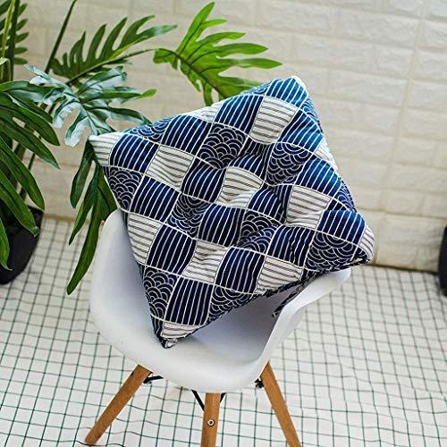 NMDD 4 X Cojines Acolchados de Lujo para Asientos de sillas con Lazos - Juego de Cojines para sillas de jardín de diseño Acolchado Espuma de 45 x 45 cm rellena con Lazos Almohadillas de Asiento a