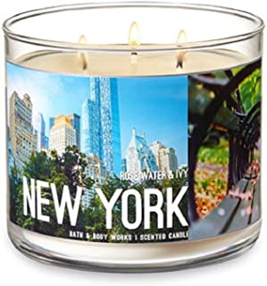 Bath & Body Works NEW YORK 3 - Wick Candle in Rose Water & Ivy Scent