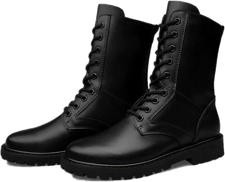 Jackdaine Leather Martin Boots Men wear Shock-Resistant high-Size Large Yards Plus Cashmere Boots 7-13